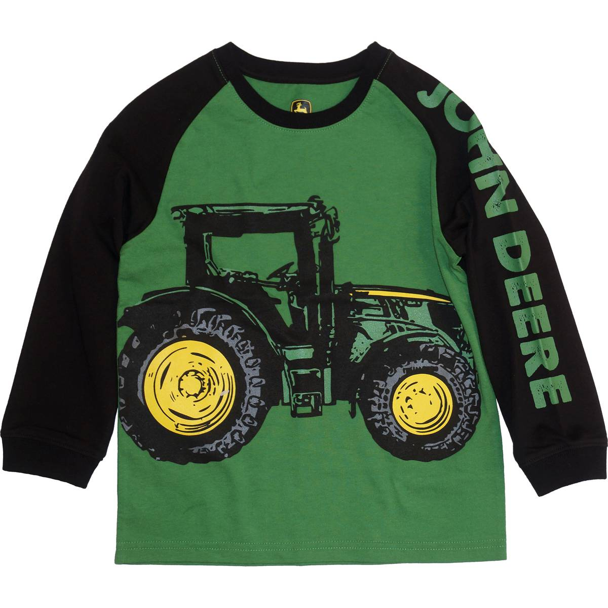 John Deere Little Boys Green Amp Black Long Sleeve Tractor Tee