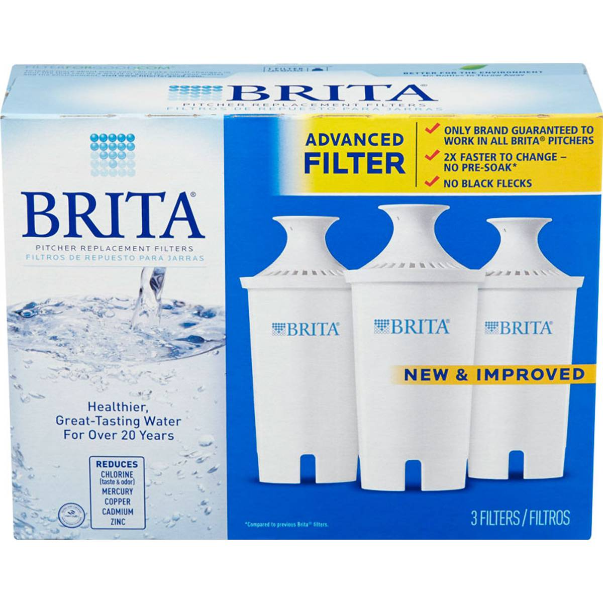 Brita Replacement Pitcher Filter 3 Pack