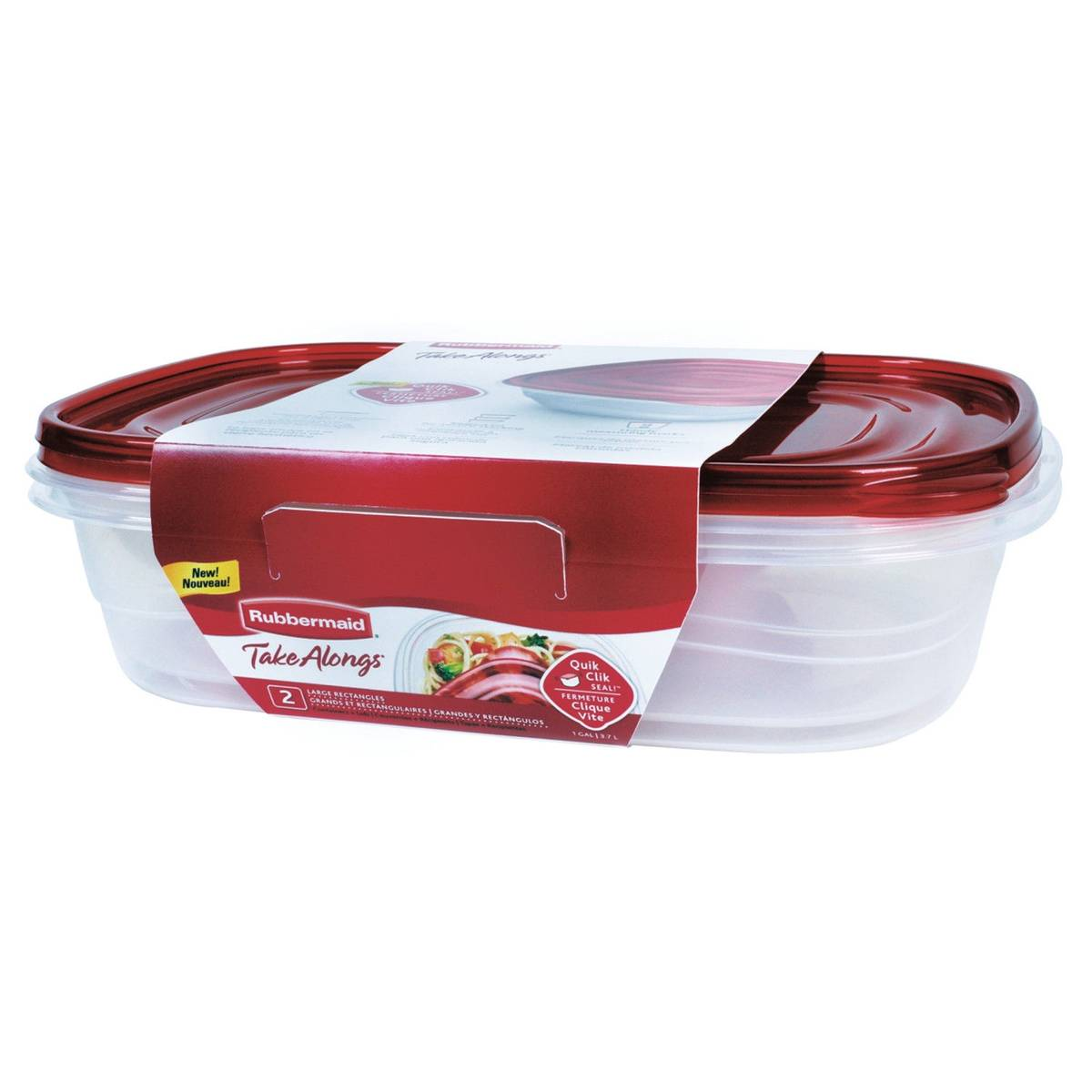 Rubbermaid TakeAlongs Large Rectangular Container