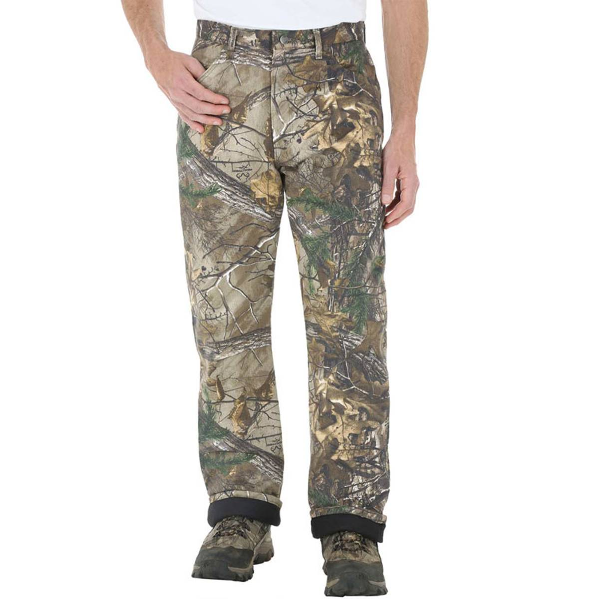 Wrangler ProGear Men\'s Realtree AP Xtra Camouflage Thermal Lined Jeans