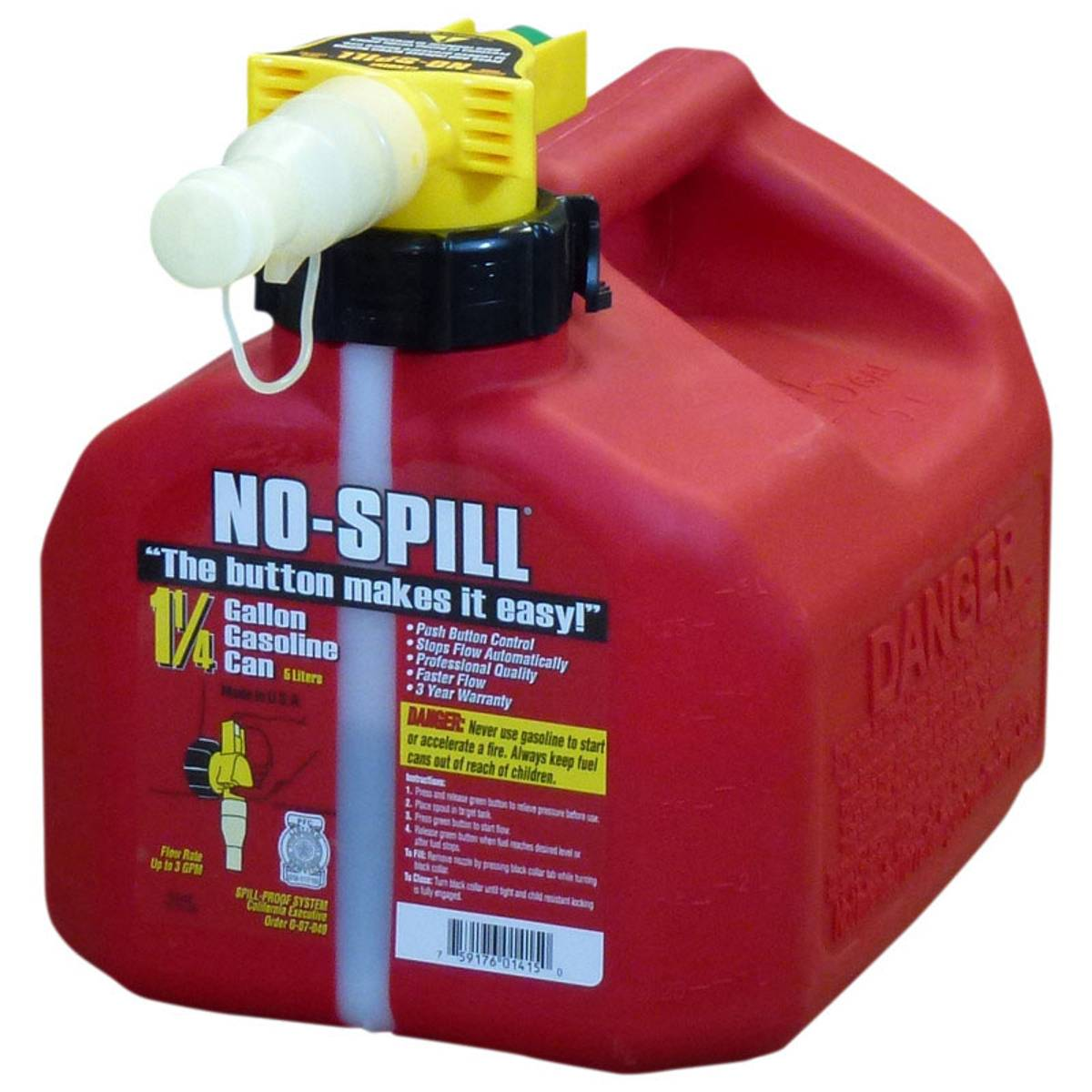 No-Spill Gasoline Can