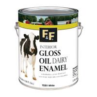 F&F Interior Gloss Oil Dairy Enamel, 1 Gallon from Blain's Farm and Fleet