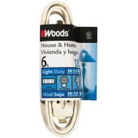 Woods White Cube Tap Household Extension Cord from Blain's Farm and Fleet
