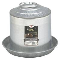 Little Giant 2 Gallon Double Wall Metal Poultry Fountain from Blain's Farm and Fleet