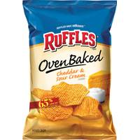 Ruffles Baked Cheddar & Sour Cream Potato Chips from Blain's Farm and Fleet
