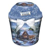 Gourmet Select Labs in Present Holiday Gift Tin with Snack Bowl Lid from Blain's Farm and Fleet