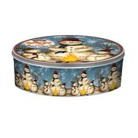 Gourmet Select Snowman Family Large Embossed Cookie Tin from Blain's Farm and Fleet