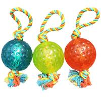 Boss Pet Products Chomper TPR Ball Rope Tug Dog Toy Assortment from Blain's Farm and Fleet