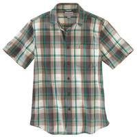 Carhartt Men's Short Sleeve Essential Plaid Shirt from Blain's Farm and Fleet