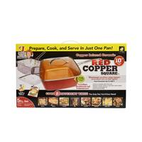 Red Copper Square Pan from Blain's Farm and Fleet