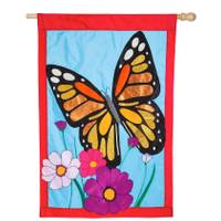 Evergreen Enterprises Butterfly Applique House Flag from Blain's Farm and Fleet