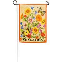 Evergreen Enterprises Wildflowers on Canvas Garden Suede Flag from Blain's Farm and Fleet