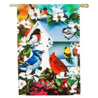 Evergreen Enterprises Backyard Birds Decorative House Flag from Blain's Farm and Fleet