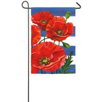 Evergreen Enterprises Poppies & Stripes Garden Flag from Blain's Farm and Fleet
