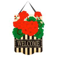 Evergreen Enterprises Geranium Felt Door Hanger from Blain's Farm and Fleet