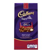 CADBURY DAIRY MILK Fruit & Nut Milk Chocolate with Raisins & Almonds from Blain's Farm and Fleet