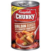 Campbell's Chunky Sirloin Burger with Country Vegetables Soup from Blain's Farm and Fleet