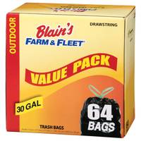Blain's Farm & Fleet 30 Gallon Drawstring Trash Bags from Blain's Farm and Fleet