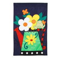 Evergreen Enterprises Flowers & Water Can and Frog Flag from Blain's Farm and Fleet