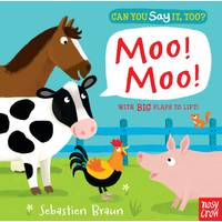 Penguin Random House Can You Say It, Too? Moo! Board Book from Blain's Farm and Fleet