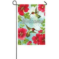 Evergreen Enterprises Hummingbird Trio Suede Garden Flag from Blain's Farm and Fleet