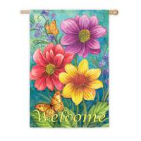Evergreen Enterprises Floral Flowers Vertical Flag from Blain's Farm and Fleet