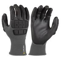Carhartt Men's Black Knuckle Protective Nitrile Gloves from Blain's Farm and Fleet