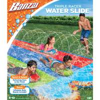 Banzai 16' Triple Racer Water Slide with 3 Bodyboards from Blain's Farm and Fleet