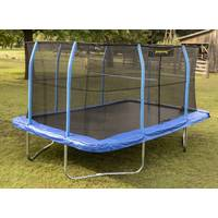 Jumpking 10' x 14' Rectangular Trampoline with Volleyball Net from Blain's Farm and Fleet