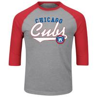 MLB Men's Chicago Cubs Raglan T-Shirt from Blain's Farm and Fleet