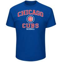 MLB Men's Royal Blue Chicago Cubs Logo Crew Neck Tee from Blain's Farm and Fleet