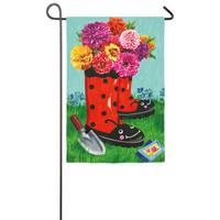 Evergreen Enterprises Ladybug Boots Garden Flag from Blain's Farm and Fleet