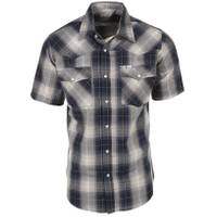 Work n' Sport Big & Tall Men's No Stain Western Dobby Shirt from Blain's Farm and Fleet