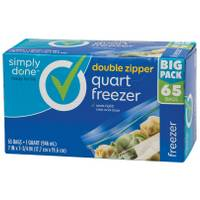 Simply Done Double Zipper Quart Freezer Bags - 65 Count from Blain's Farm and Fleet