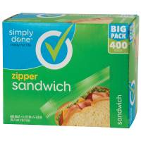 Simply Done Zipper Sandwich Bags from Blain's Farm and Fleet