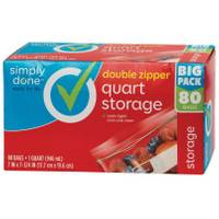 Simply Done Double Zipper Quart Storage Bags from Blain's Farm and Fleet