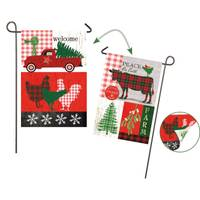Evergreen Enterprises Festive Farmhouse, Garden Suede Flag from Blain's Farm and Fleet