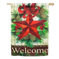 Evergreen Enterprises Christmas Country Star House Sub Suede Flag from Blain's Farm and Fleet