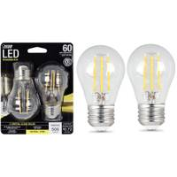 FEIT Electric 6W/60W LED A15 Light Bulb E26 Base, 2-Pack from Blain's Farm and Fleet