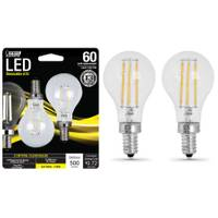 FEIT Electric 6W/60W LED A15 Light Bulb E12 Base, 2-Pack from Blain's Farm and Fleet