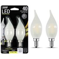 FEIT Electric 45W /40W Dimmable LED, Flame Tip, E12 Base, 2-Pack from Blain's Farm and Fleet