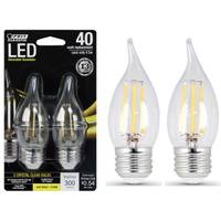 FEIT Electric 45W/40W LED, Flame Tip, E26, 2700K, 2-Pack from Blain's Farm and Fleet
