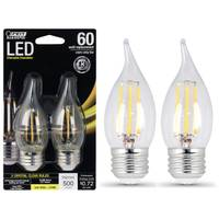 FEIT Electric 6W/60W Dimmable LED, Flame Tip, E26, 2700K 2-Pack from Blain's Farm and Fleet