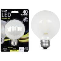 FEIT Electric 45W/40W LED G25 Light Bulb E26 Base Frost from Blain's Farm and Fleet