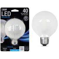 FEIT Electric 45W/40W LED G25 Light Bulb, E26, 5000K, Frost from Blain's Farm and Fleet