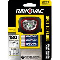 Rayovac Workhorse Pro 180 Lumens Spot to Flood Headlight from Blain's Farm and Fleet