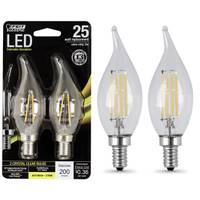 FEIT Electric Dimmable Flame Tip LED Bulb - 2 Pack from Blain's Farm and Fleet