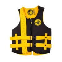 Body Glove Men's Black & Yellow Stealth PFD Life Jacket from Blain's Farm and Fleet