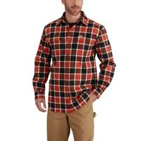 Carhartt Men's Hubbard Plaid Flannel Shirt from Blain's Farm and Fleet