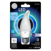GE GE LED 7W CHANDLR MED BS WHT 1CT from Blain's Farm and Fleet